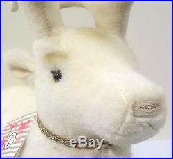 006654 Steiff Winter Reindeer White Alpaca 32 cm with Swarovski crystals
