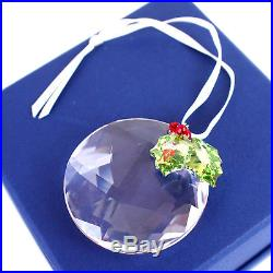 100% Authentic Swarovski Crystal Holly Window Christmas Ornament 870003 Retired