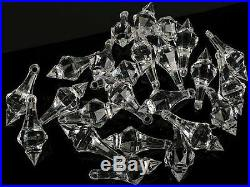 112 Small Crystal Drop Hanging Chandelier Christmas Tree Ornament Vase Decor New