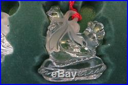 12 Days Of Christmas Waterford Marquis Lead Crystal Ornaments Series 1 Mib