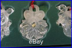 12 Days Of Christmas Waterford Marquis Lead Crystal Ornaments Series 2 Mib