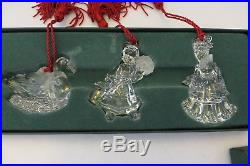 12 Days Of Christmas Waterford Marquis Lead Crystal Ornaments Series 3 Mib