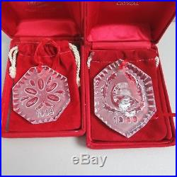 12 Pc Waterford Crystals 12 Twelve Days of Christmas Ornaments 1982-1995 WithBoxes