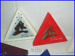 (12) Swarovski Crystal Christmas Ornament Lot Box Coa 1991 1992 1993 1994 1995