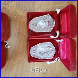 12 Waterford Crystal 12 Days of Christmas 82-95 Ornaments Boxes & Pouches set