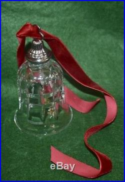 #12 Waterford Crystal 12Days Christmas Bell 10 Lords Leaping Ornament Glenmore