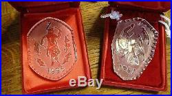 14 WATERFORD CRYSTAL CHRISTMAS ORNAMENTS MOST With BOXES 1978- 1995