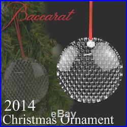 $150 Baccarat Crystal Diamant Bauble 3 Round Ornament New in Box 2807394