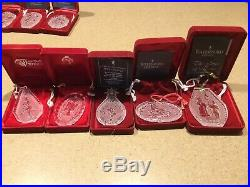 18 Waterford Christmas Ornament Lot 1982 2000