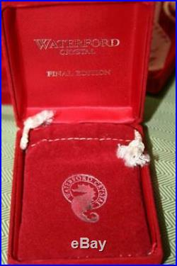 18 Waterford Crystal Ornaments 12 Days Of Christmas Series 1978-1995 Complete ++