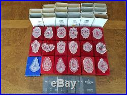 18 pcs Waterford Crystal 12 Days of Christmas Ornaments Set 1978 1995 inc 1982