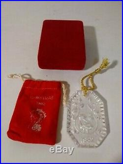 1982 Waterford Crystal Ornament 12 Days Christmas Partridge In A Pear Tree