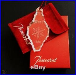 1986 NOEL BACCARAT ANNUAL ORNAMENT WithLARGE SNOWFLAKE WithBOX! VERY RARE