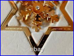 1987 SNOW CRYSTAL CHRISTMAS MOBILE 24 carat gold plated GEORG JENSEN. Box