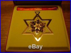 1987 Snow Crystal CHRISTMAS MOBILE 24 carat gold plated GEORG JENSEN. Box
