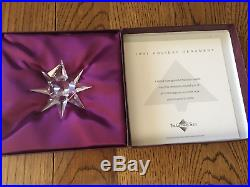 1991 SWAROVSKI CRYSTAL FIRST ANNUAL CHRISTMAS HOLIDAY ORNAMENT WithBOXCOA