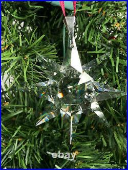 1991 Swarovski Crystal Annual Christmas Ornament First edition Snowflake Star