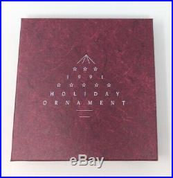 1991 Swarovski Crystal Annual Christmas Ornament Snowflake Star In Original Box