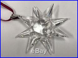 1991 Swarovski Crystal Annual Christmas Ornament Star Snowflake