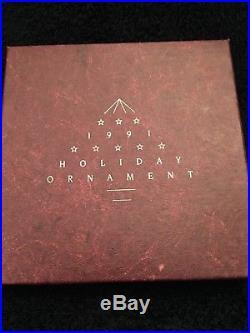 1991 Swarovski Crystal Christmas Ornament Star Snowflake Nib