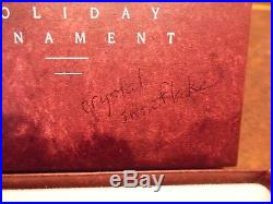 1991 Swarovski Crystal Holiday Christmas Ornament withOriginal Box box written on
