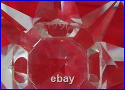 1991 Swarovski Holiday Crystal Ornament, US Version Annual Edition, MINT