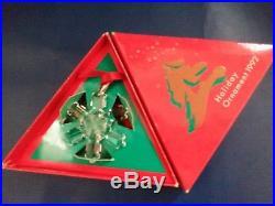 1992 SWAROVSKI CRYSTAL ANNUAL CHRISTMAS ORNAMENT STAR SNOWFLAKE with box & COA