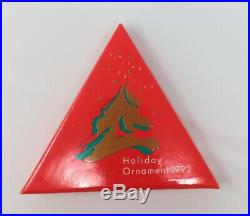 1992 Swarovski Crystal Annual Christmas Ornament Snowflake Star In Original Box