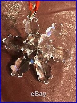 1992 Swarovski Crystal Annual Ornament 168690 Christmas Star Snowflake
