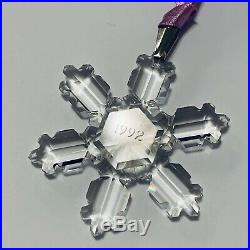 1992 Swarovski Crystal Annual Snowflake Ornament Holiday Season Gift Christmas
