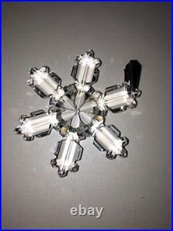 1992 Swarovski Crystal Annual Snowflake Ornament, Original Box Christmas