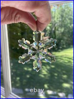 1992 Swarovski Crystal Annual Snowflake Ornament, Original Box Dead Stock