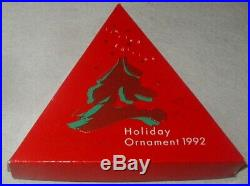 1992 Swarovski Crystal Christmas Ornament Star Excellent In Box Papers Austrian