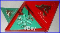 1992 Swarovski Crystal Christmas Ornament Star Mint In Box Austrian