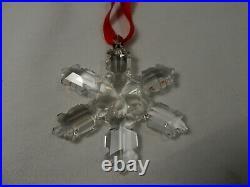 1992 Swarovski Crystal Christmas Ornament With Box and COA