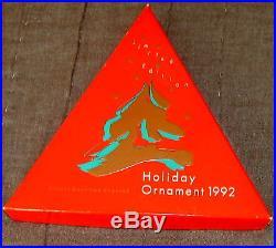 1992 Swarovski Crystal Holiday Christmas Snowflake Ornament & Box