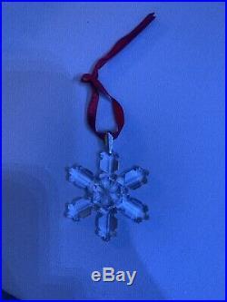1992 Swarovski Crystal Holiday Christmas Snowflake Ornament Orig Box
