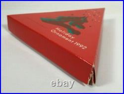 1992 Swarovski Crystal Holiday Ornament NO COA Slightly Worn Original Box