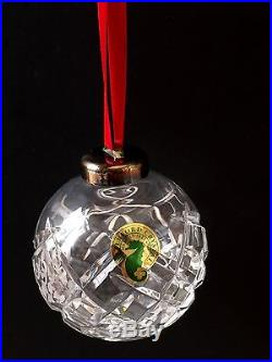 1992 Waterford Annual Christmas Crystal Ball Ornament -Mint in Box