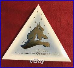 1993 Swarovski Crystal Annual Christmas Ornament Snowflake Mint Box Top Only