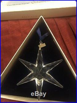1993 Swarovski Crystal Annual Christmas Ornament Star Snowflake Box & Coa