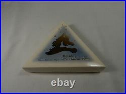 1993 Swarovski Crystal Christmas Ornament With Box, and COA
