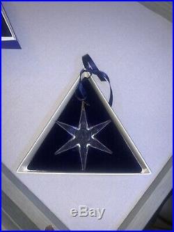1993 Swarovski Crystal Holiday Christmas Star Snowflake Ornament Orig Box