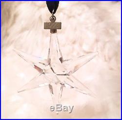 1993 Swarovski Crystal Snowflake Annual Christmas Tree Ornament In Box