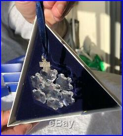 1994 Retired Swarovski Crystal Snowflake Christmas Ornament with Original Box
