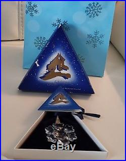 1994 Series Swarovski Crystal Star Christmas Tree Ornament With Box & Coa