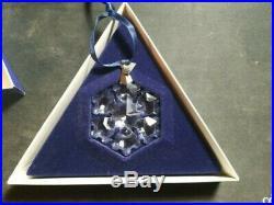 1994 Swarvoski Crystal Christmas Ornament Large Snowflake-great Condition-no Coa
