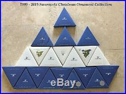 1995 2015 Swarovski Crystal Christmas Tree Star Ornament Collection COA & Box