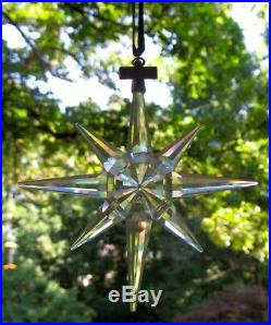 1995 Limited Ed Swarovski Crystal Snowflake Star Christmas Tree Ornament No Box