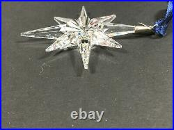 1995 Swarovski Crystal Annual Christmas Ornament Snowflake Star